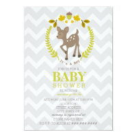 Deer Wreath Baby Shower - Boy Card