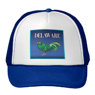 Delaware Green Chicken Trucker Hat