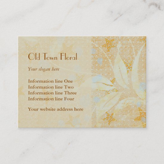 Delicate Abstract Floral Business Card