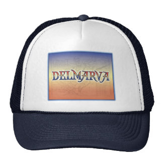 DelMarVa Antique Map Mesh Hat