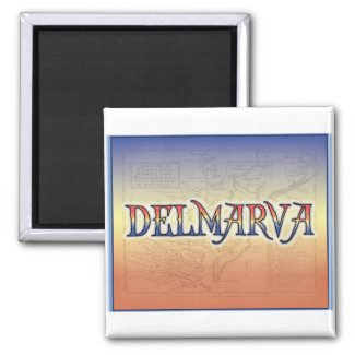 DelMarVa Antique Map Refrigerator Magnet