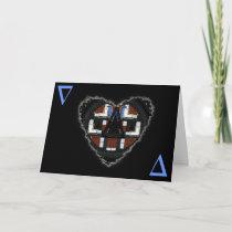 Delta Heart Socionic Valentine Love Romance Card