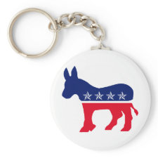 Democratic Donkey Key Chains