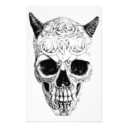 demon skulls and 8 colouring pages