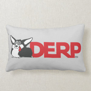 Derp Corgi Throw Pillow
