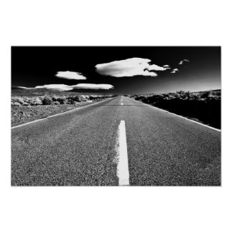 Desert Road in Black and White
