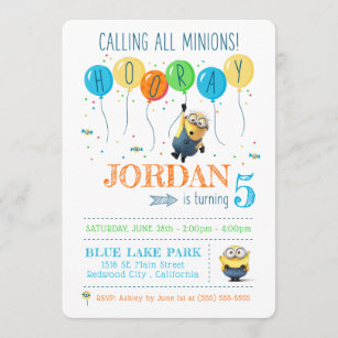 minion invitations zazzle