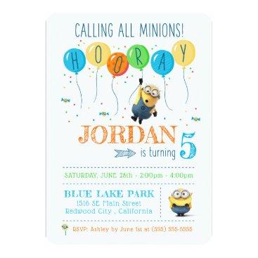 Despicable Me | Minion Balloon Birthday Invitation