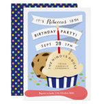 Dessert Kids Ice Cream  Birthday Party Invitation