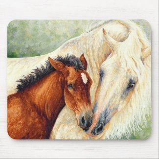 Devotion - Mare and Foal Mousepad mousepad