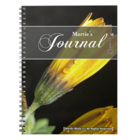 Dew on a Yellow Daisy Journal