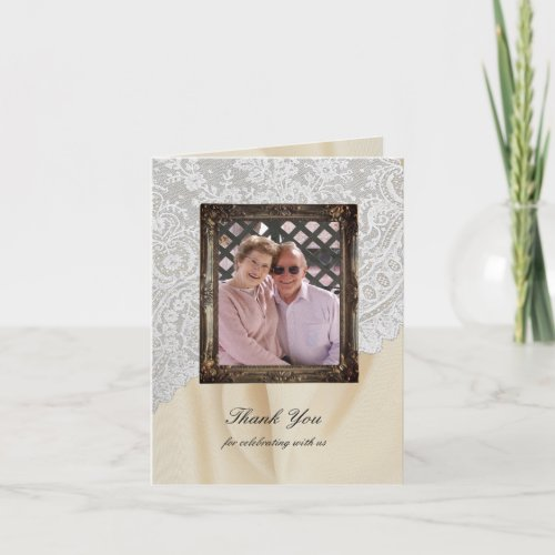 Diamond 60th Wedding Anniversary Thank You Card