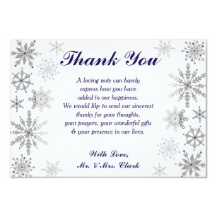 Diamond Snowflakes Thank You Card