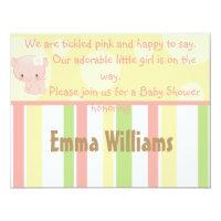Diddles Farm Pig Baby Shower Invitation