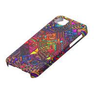 digital quilt modern retro iPhone 5 case