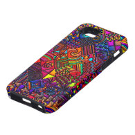 digital quilt modern retro iPhone 5 case