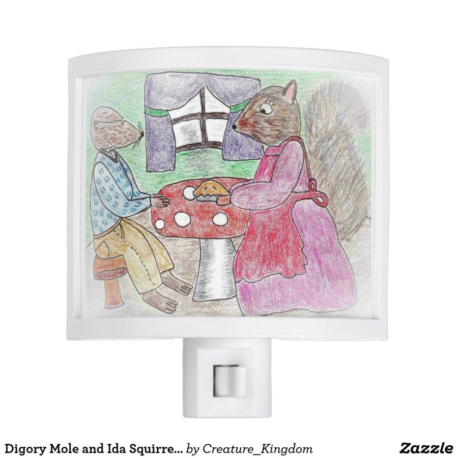 Digory Mole and Ida Squirrel nightlight