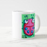 Dina's Ladybug (double image) Jumbo size Giant Coffee Mug