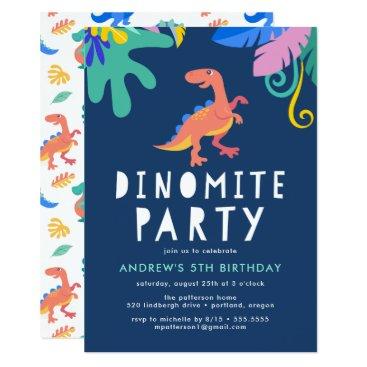 Dinomite | Dinosaur Birthday Party Invitations