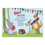 ❤️ Sweet Dinosaurs In The Forest Birthday Party Invitation