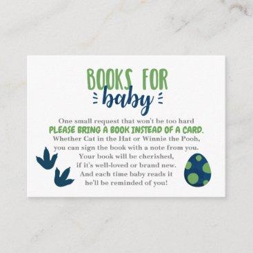 Dinosaur Books for Baby Invitation Insert