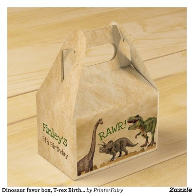 Dinosaur favor box, T-rex Birthday Party Favor Box