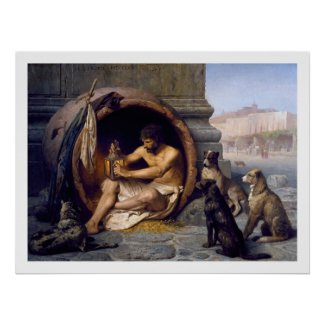 Diogenes & Dogs Poster Print by Gérôme
