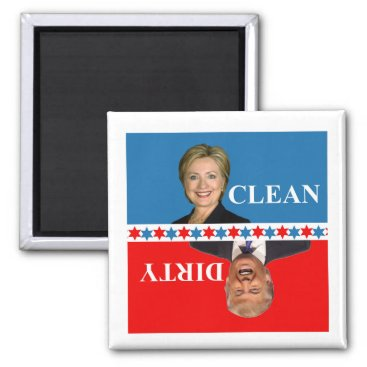 Dishwasher magnet Clinton Trump