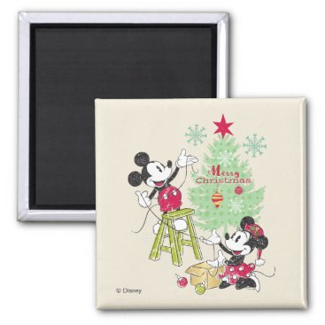 Disney | Mickey & Minnie | Classic Christmas Tree Magnet