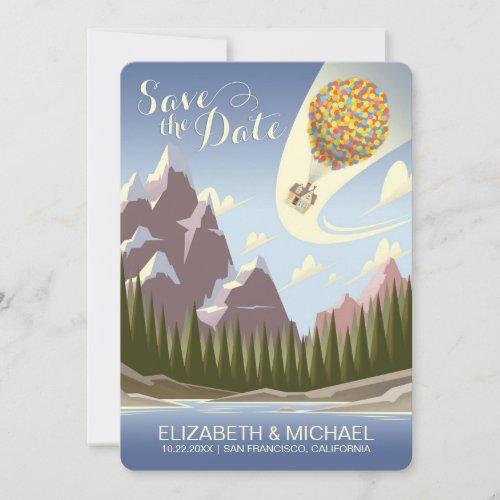 Disney Pixar Up Wedding | Save the Date Card