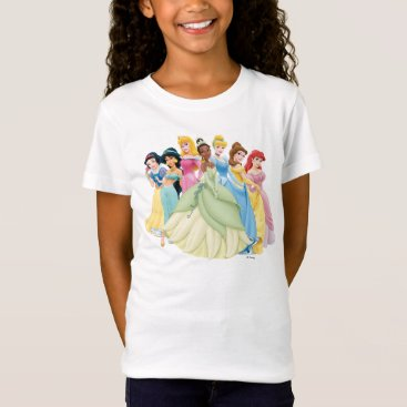 Disney Princess | Aurora, Tiana, Cinderella Center T-Shirt