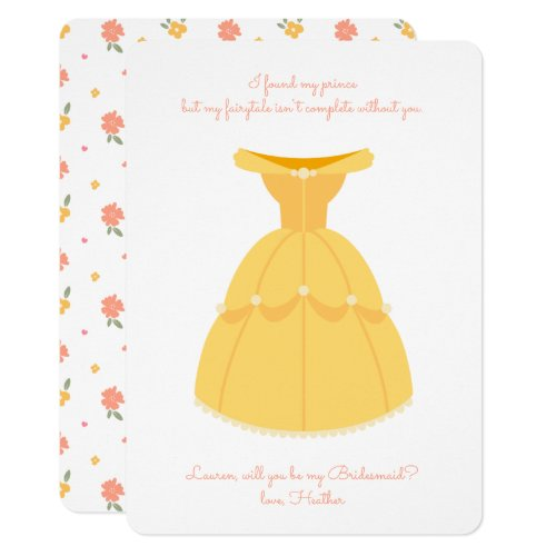 Disney Princess Belle | Will You Be My Bridesmaid? Invitation
