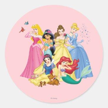 Disney Princess   Birds and Animals Classic Round Sticker