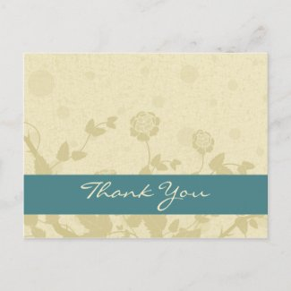 Distressed Elegance Thank You Postcards postcard