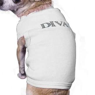 DIVA BLING Dog Ribbed Shirt