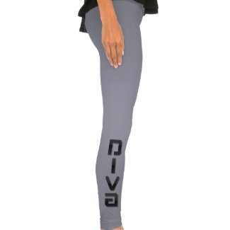 DIVA Metallic Dark Womens Spandex/Cotton Leggings