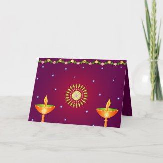 Diwali lamps - Card card