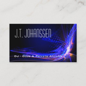 DJ - Color Explosion Black Standard Business Cards