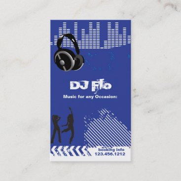 DJ - deejay music coordinator Business Card