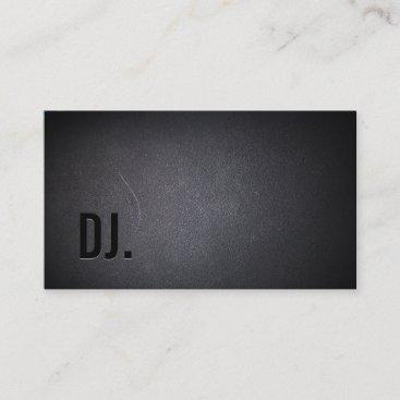 DJ Deejay Professional Black Bold Text Elegant Business Card