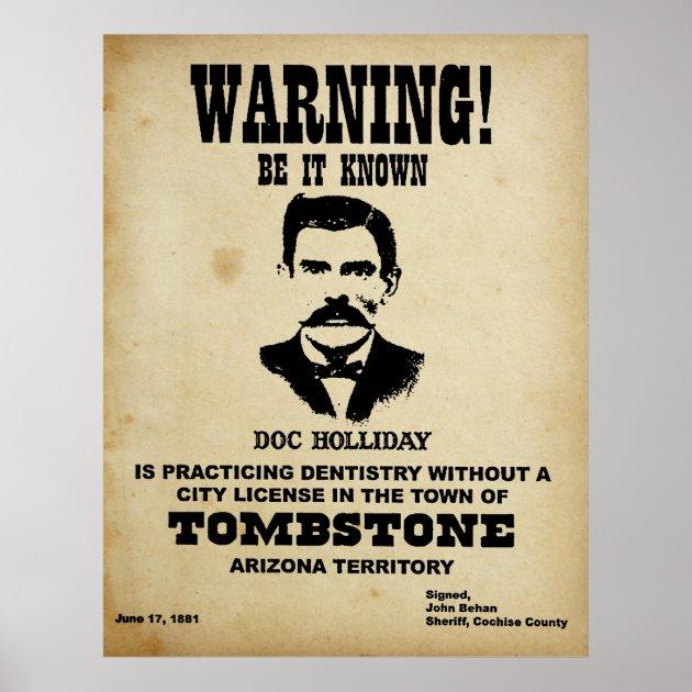 doc holliday poster zazzle com