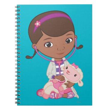 Doc McStuffins Holding Lambie Notebook