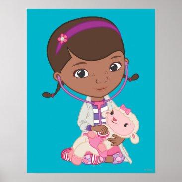 Doc McStuffins Holding Lambie Poster