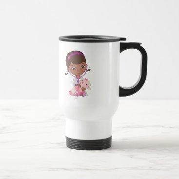 Doc McStuffins Holding Lambie Travel Mug