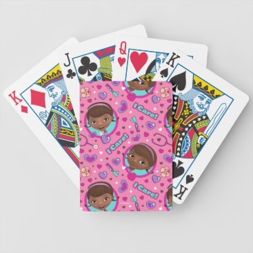 Doc McStuffins   I Care Pink Pattern Bicycle Playing Cards