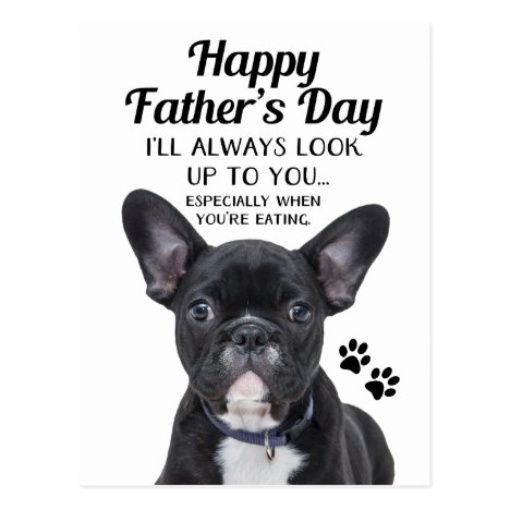 Father/'s Day Card From The Dog Dog Father/'s day card French Bulldog