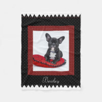 Dog Customizable Pet Photo Fleece Blanket