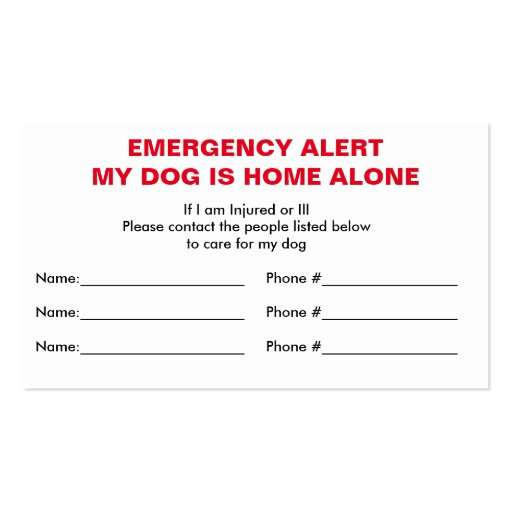 Emergency Card Template. emergency first aid kit winter survival ...