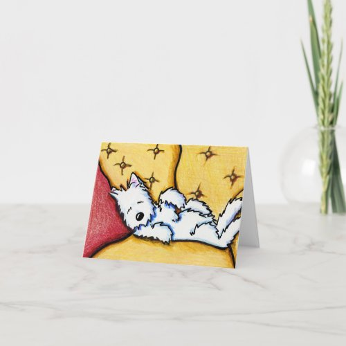 Dog Napped Westie Note Card