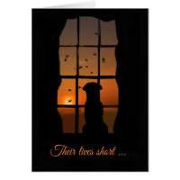 Dog Sympathy, Loss of Dog Memorial Sympathy Card